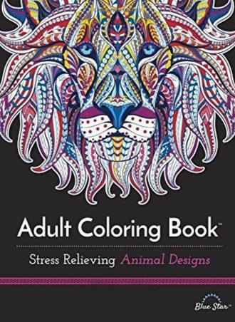 Adult Coloring Book - Animal Designs