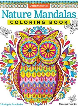 Adult Coloring Book - Nature Mandalas